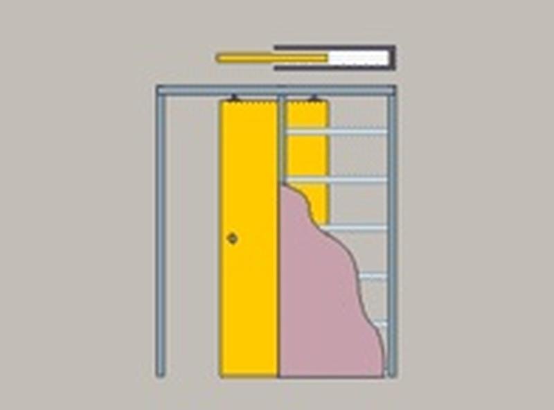 Как сделать двери-купе в стене