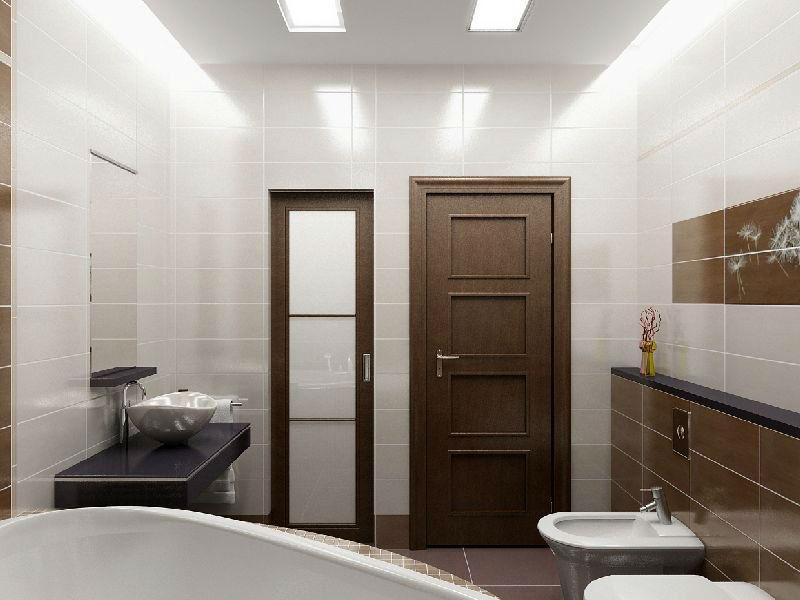 Двери в ванную и туалет дизайн
