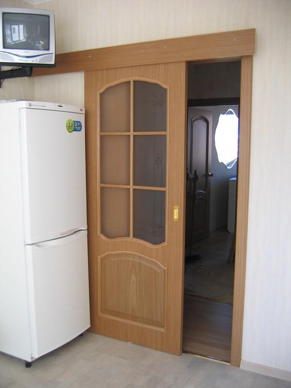 Установка раздвижных двери своими руками фото