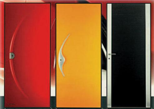 стальные двери цветные