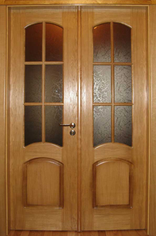 Двери межкомнатные двухстворчатые фото