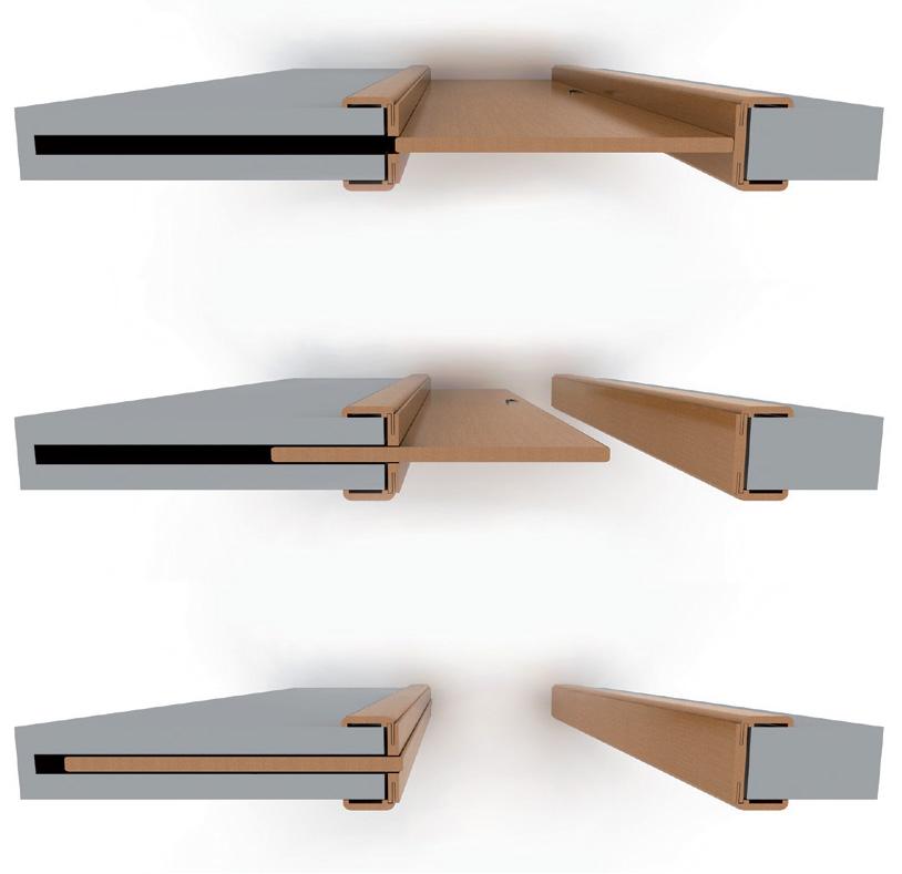 Коллекция ENGINEERING Скрытая сдвижная система Дверь-пенал